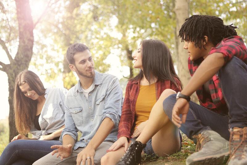 Happy Students in Social Skills Program