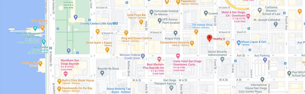 Healthy U San Diego Google Maps Location