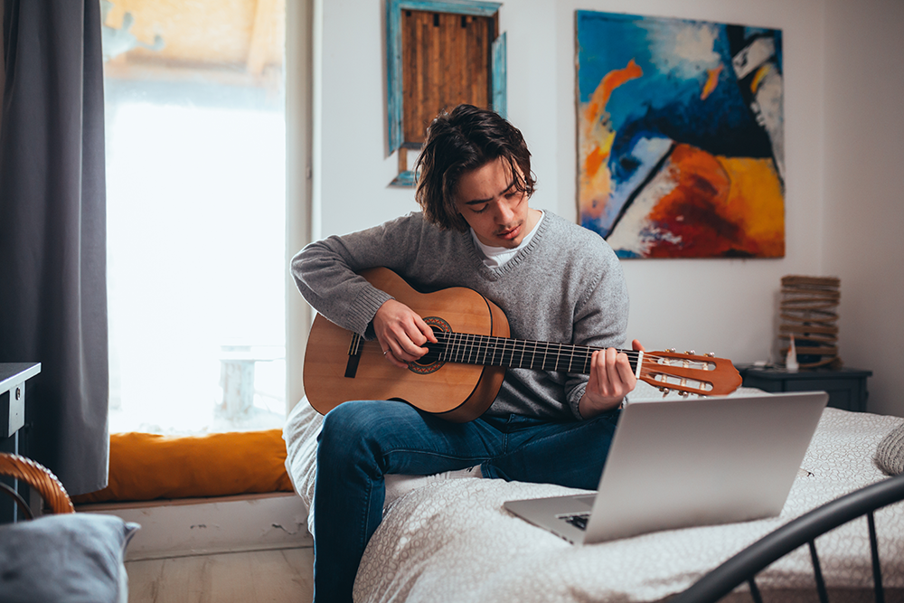 using music for stress